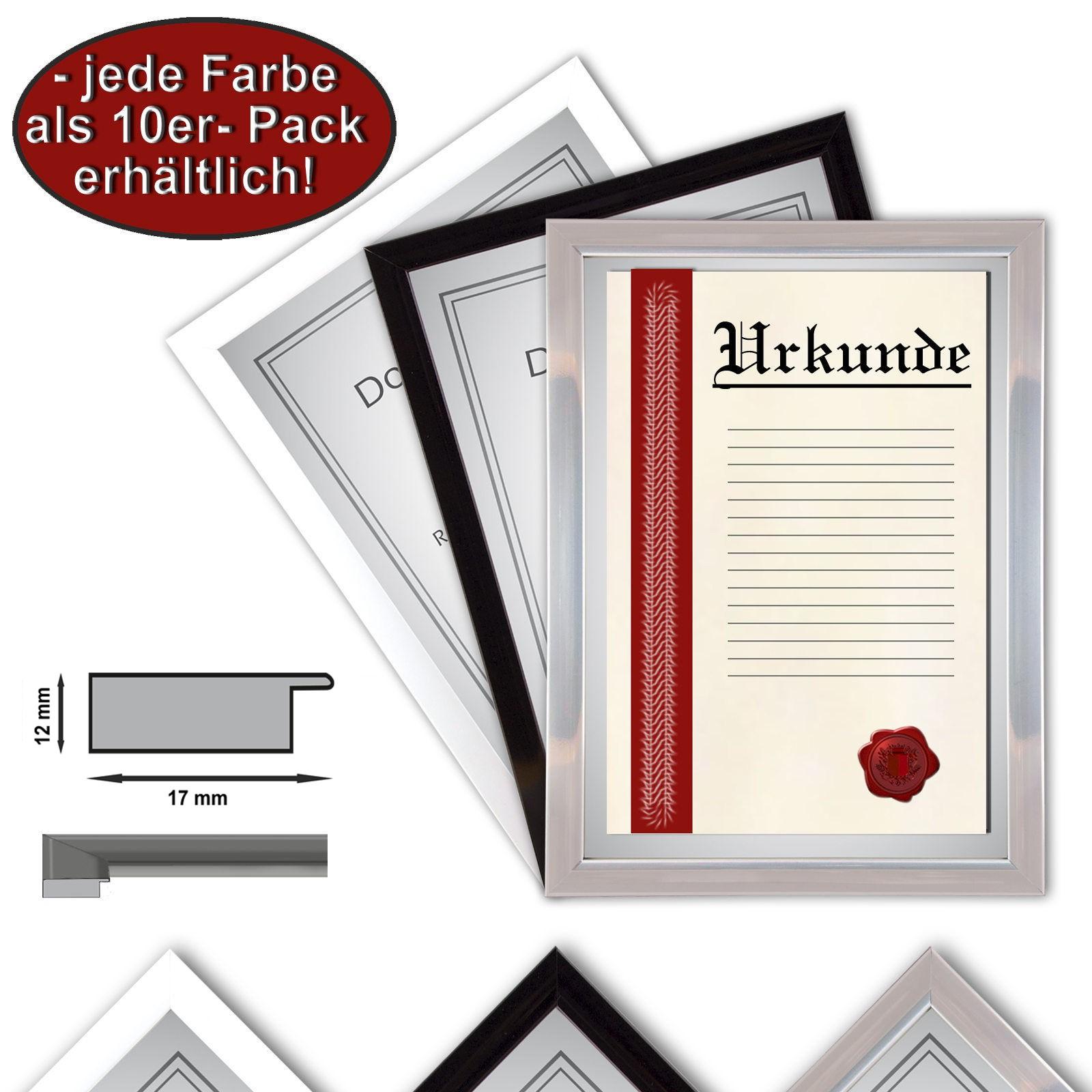 10 x marcos del marco del certificado A4 21x29,7 de fotos, marcos de ...
