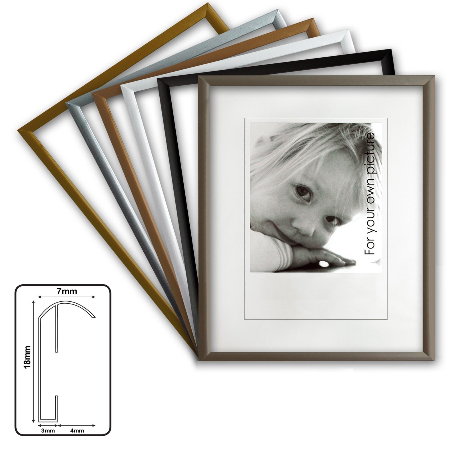Kingsale® marco de aluminio, marcos de aluminio, 6 colores diferentes