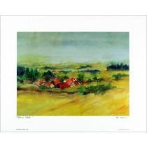 Kunstdruck Kleiner Weiler 40x50 cm
