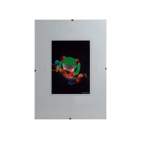 Bilderhalter rahmenlos mit Kunstglas