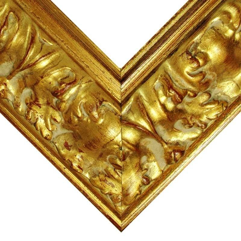 gold mit Akanthusblättern Barockrahmen 961 ORO Goldrahmen verziert