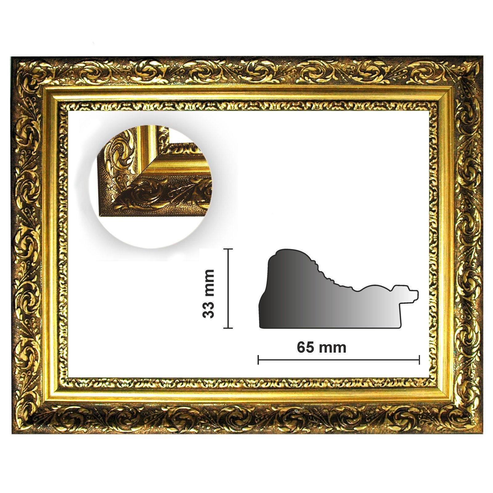 Barockrahmen gold fein verziert 840 ORO, verschiedene Varianten