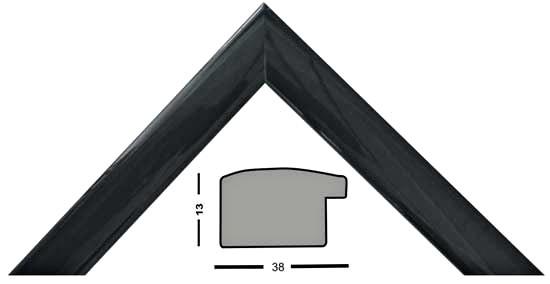 Bilderleiste Holz 271 NP schwarz matt lackiert