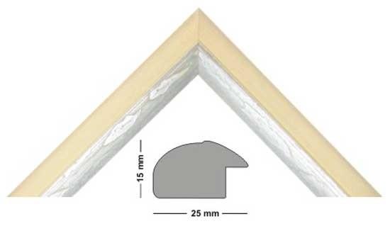 Bilderleiste Holz Genua 250 CREMA