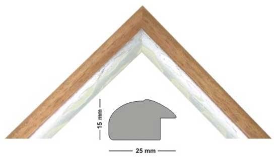 Bilderleiste Holz Genua 250 TEAK