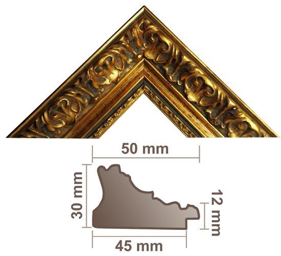 Bilderleiste 972 ORO gold profiliert m. Verzierung
