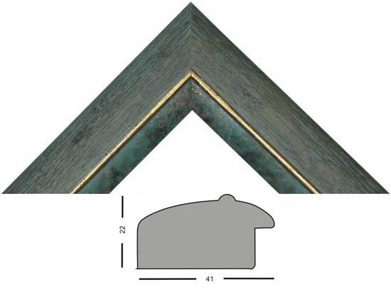 Bilderleiste 378 GRI grau gold mit Farbkante