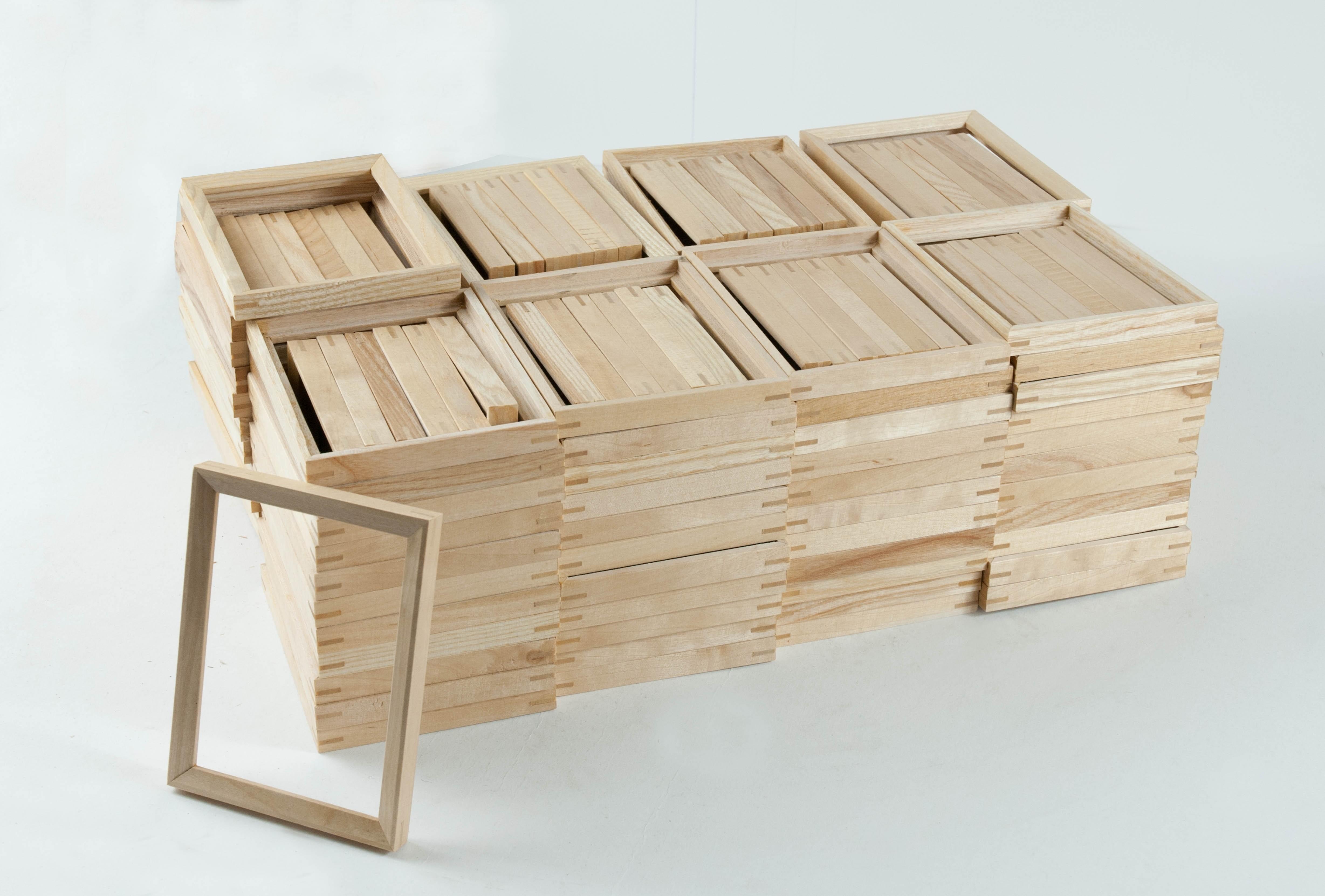 Restposten, 140 Stück Bilderrahmen 9x12cm Leerrahmen, Esche oder Erle