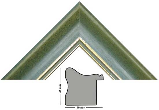 Bilderleiste 645 VER grün mit 2 Goldstrichen