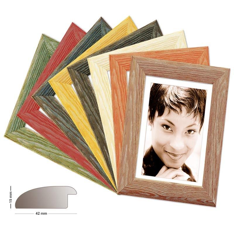 Holzrahmen MIAMI, in 8 Farben in Kiefer, Fotorahmen, Bilderrahmen Kiefer