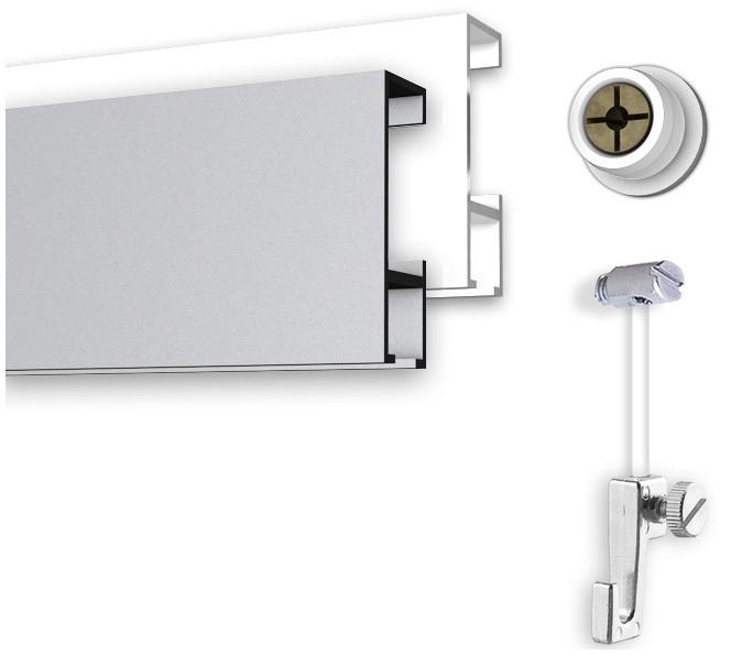 Bilderschienensystem 5 Meter mit innenliegendem Gleiter