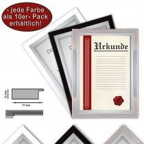 10 x Urkundenrahmen, DIN A4, 21x29,7 Fotorahmen, Bilderrahmen A4, 3 verschiedene Farben