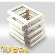 10 Stk Leerrahmen 8,2x12,2 cm 344 BIA 1 Aufhänger + 4 Lamellen