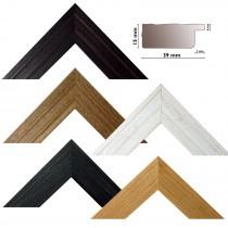 Bilderleiste 128 natur, schwarz,braun, teak, weiß Profil  HxB 16x40 mm