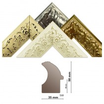 Bilderleiste 267 4 Farben verziert Profil HxB 50x34 mm