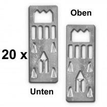 20x Aufhänger für Foamboard u. Leichtschaumplatten