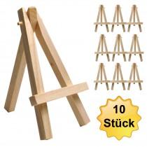 10xMini Staffelei aus Massiv Holz