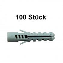 100 Stück FaKKT-Nylondübel 8x40 mm für Schrauben 4,5-6 mm Bohrer 8 mm