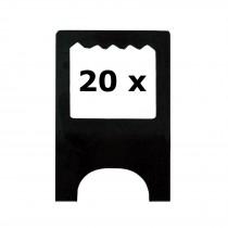 20 x Aufhänger für Leichtschaumplatten