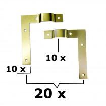 20x L-Winkel mit Aufhängung 10x links+10x rechts