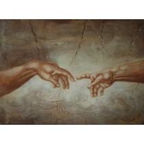 Ölgemälde auf Keilrahmen 50x70 cm Hände, echt handgemalt