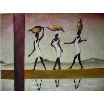 Ölgemälde auf Keilrahmen 50x60 cm Wasserträger, handgemalt