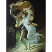 Ölgemälde auf Keilrahmen 60x90 cm Tanzendes Paar, handgemalt