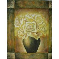 Ölgemälde auf Keilrahmen 50x60 cm Rosen, handgemalt