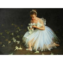Ölgemälde auf Keilrahmen 60x90 cm Ballerina, echt handgemalt