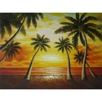 Ölgemälde auf Keilrahmen 50x70 cm Palmenstrand