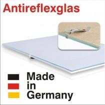 Bildträger rahmenlos mit Antireflexglas A-Clip