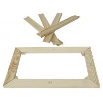 Gambe barella, per allungare una tela di cui 2 cunei in legno