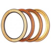 cornice ovale 9 x 13 cm a 50 x 70 cm, con vetro e parete posteriore