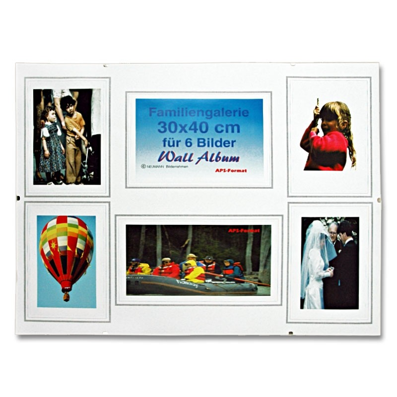frameless picture frame gallery, normal glass, Passepartout with cutouts