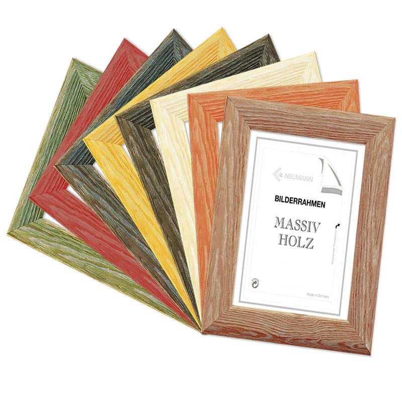 Wooden frame MIAMI, in 8 colors in pine, photo frame, picture frame pine
