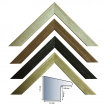 Picture frame series 2443 in black, marrone, gray and white, 20 mm high and 30 mm wide