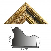 Bilderleiste antik gold HxB 54x65 mm