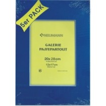 Passepartout 20x28 blau 5er Set