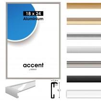 Cadre en aluminium ACCENT, changement cadre en aluminium, cadre photo en aluminium, 7 couleurs différentes, différentes tailles