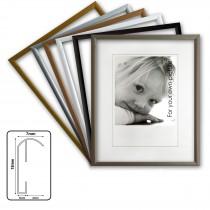 Cadre en aluminium Kingsale®, cadres photo en aluminium, 6 couleurs différentes