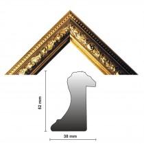 Bilderleiste 812 ORO 38 mm gold verziert
