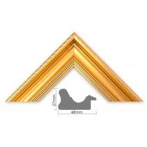 Bilderleiste Kunststoff ROKOKO Profil HxB 27x48 mm gold